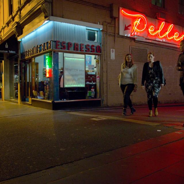 """""""Pellegrini's Espresso Bar"""" stock image"""
