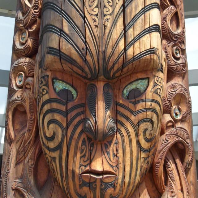 """""""Maori carving (1)"""" stock image"""