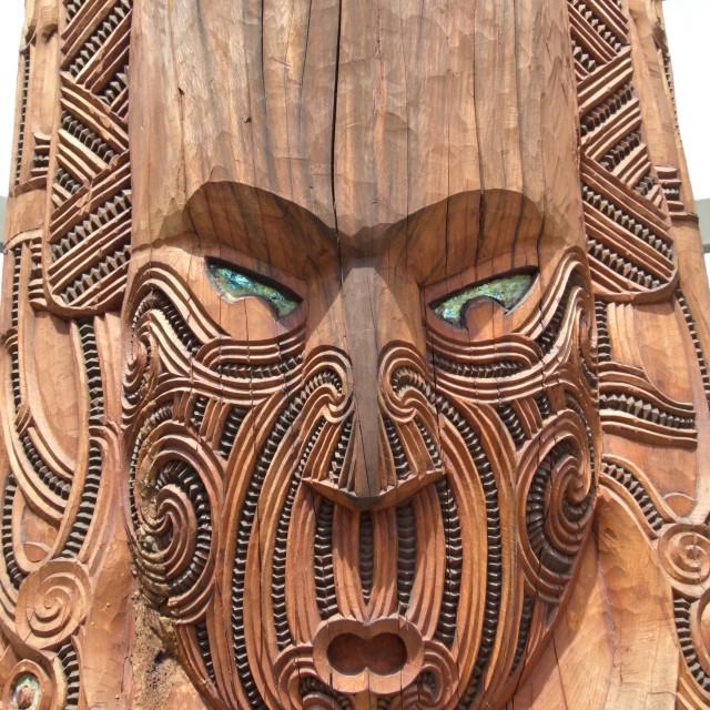 """""""Maori carving (2)"""" stock image"""