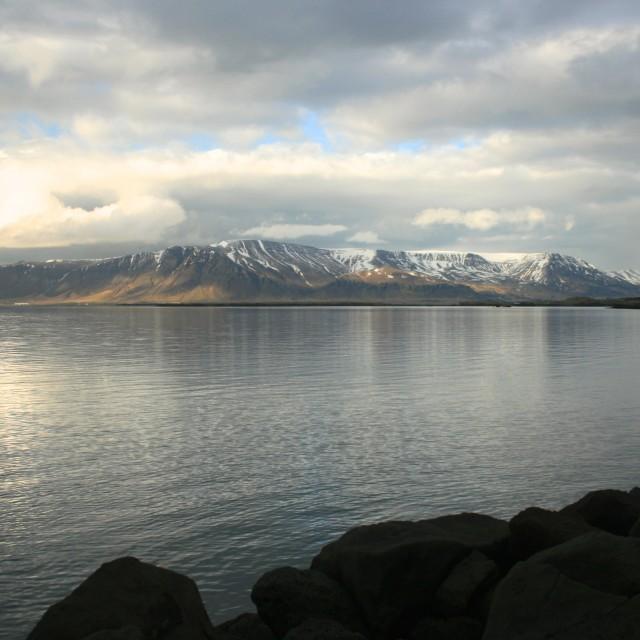 """Icelandic seascape"" stock image"