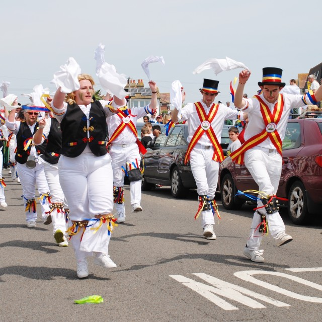 """""""Mad Jack's Morris at Jack In The Green"""" stock image"""