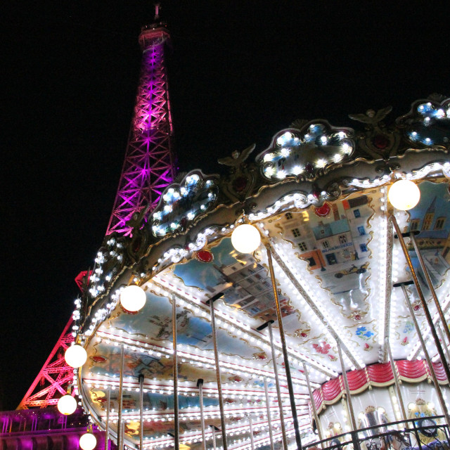 """Carousel and Tour Eiffel"" stock image"