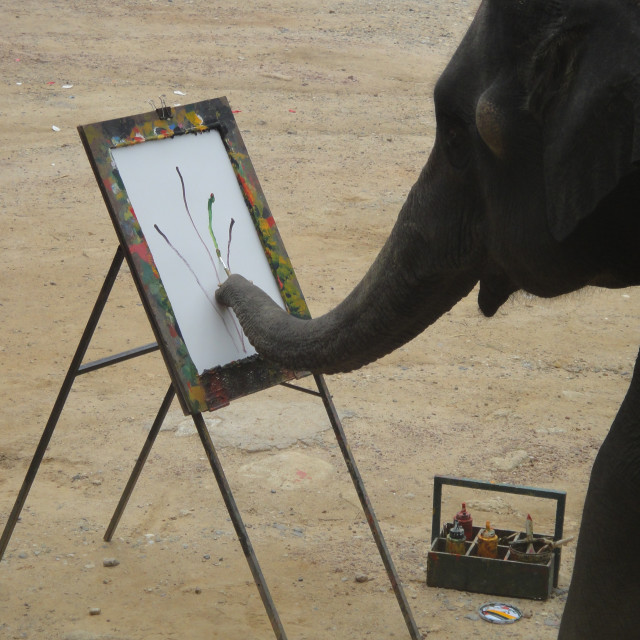 """Elephant Painting"" stock image"