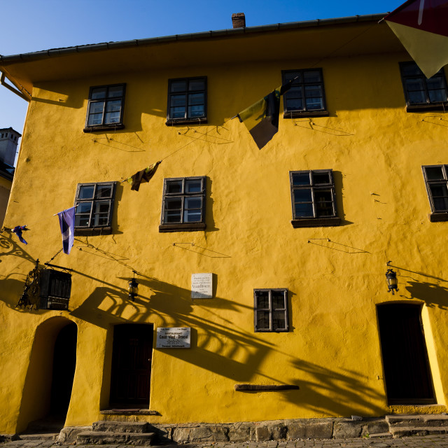 """The house where Vlad the Impaler was allegedly born"" stock image"
