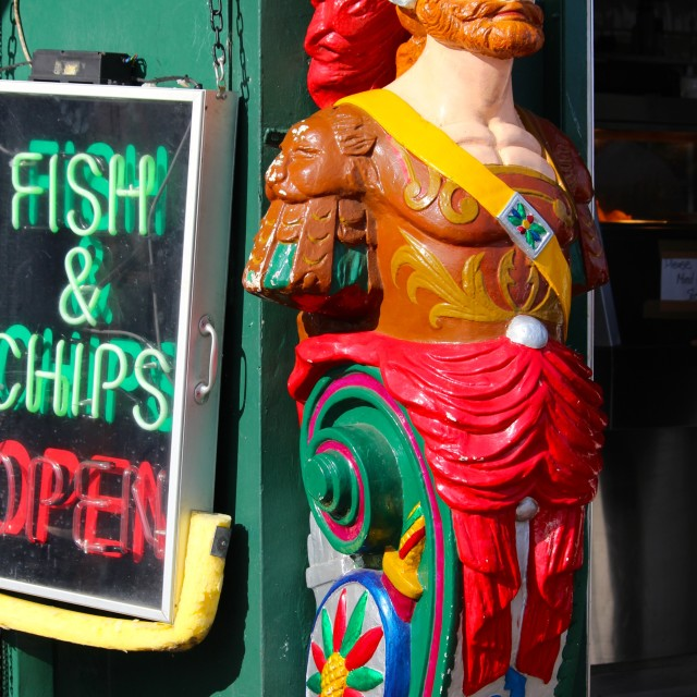 """Seaside fish and chips"" stock image"