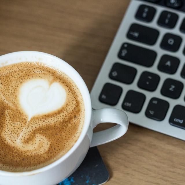 """<3 Coffee"" stock image"