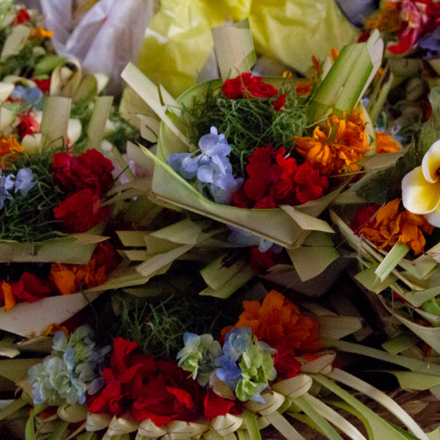"""Flower Offerings"" stock image"
