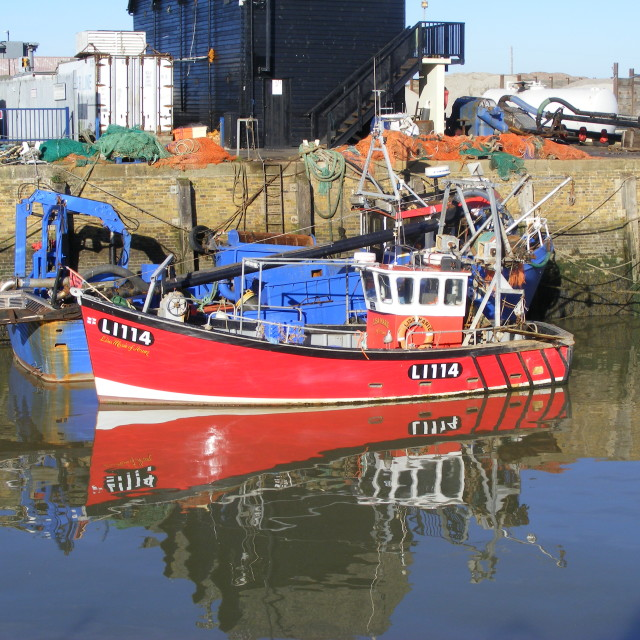 """Trawler at Whitstable"" stock image"