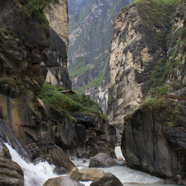 """Tiger Leaping Gorge"" stock image"