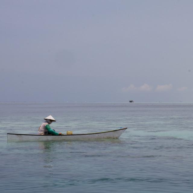 """""""Gone Fishing"""" stock image"""