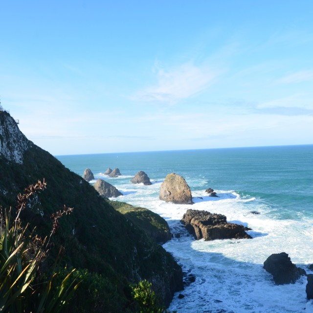 """Nugget point Lighthouse"" stock image"