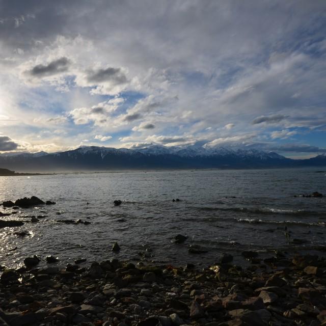 """""""Kaikoura Bay"""" stock image"""