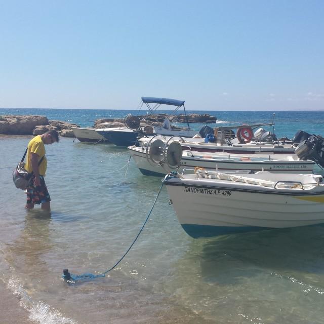 """St Thomas Beach, Pefkos, Rhodes"" stock image"