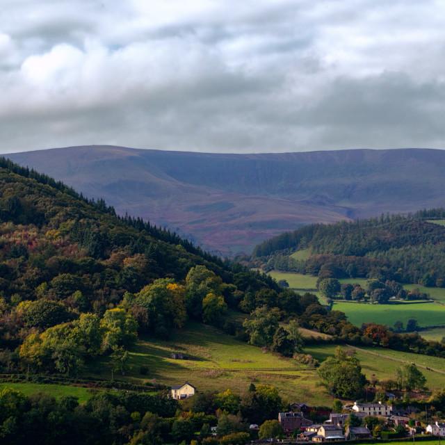 """Brecon Beacons in autumn"" stock image"