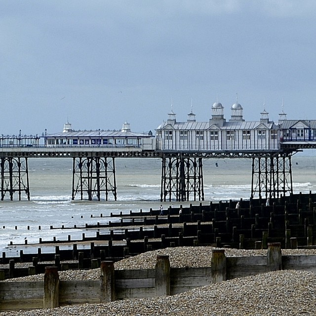 """Eastbourne Pier After The Fire"" stock image"