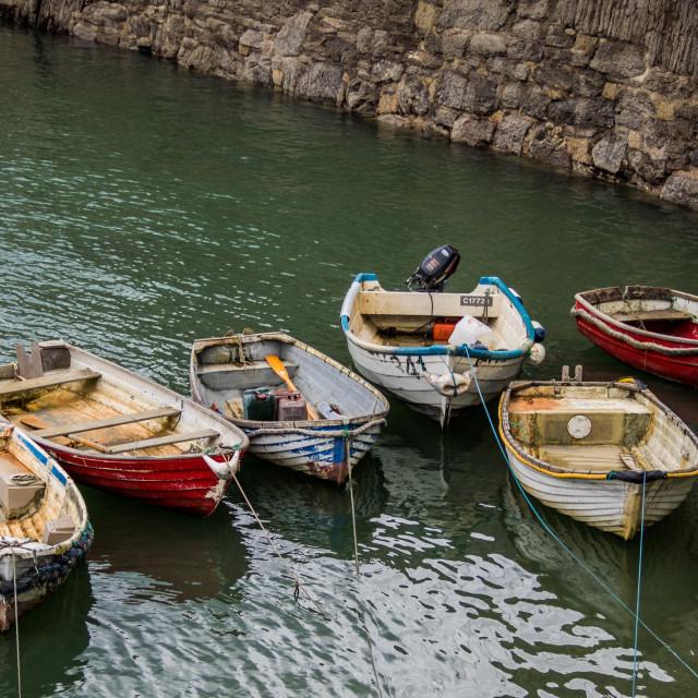 """""""Bobbing boats"""" stock image"""
