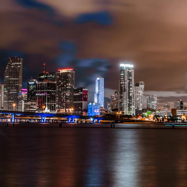 """Downtown Miami Skyline"" stock image"