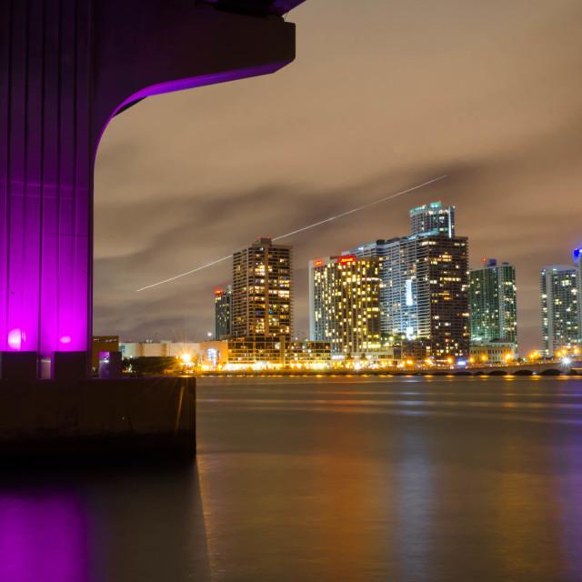 """""""Miami by Night"""" stock image"""
