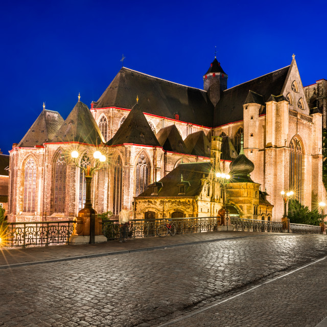 """Saint Michael Church in Ghent, Belgium"" stock image"