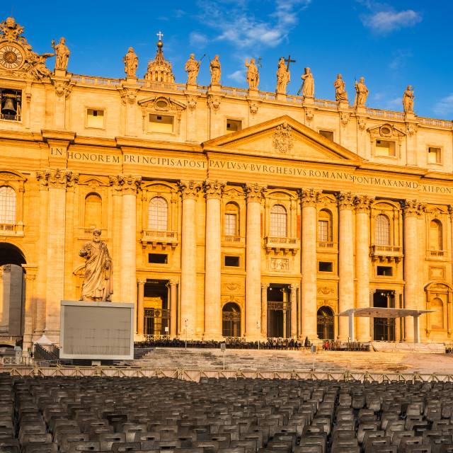 """St. Peter Cathedral in Vatican, Rome"" stock image"