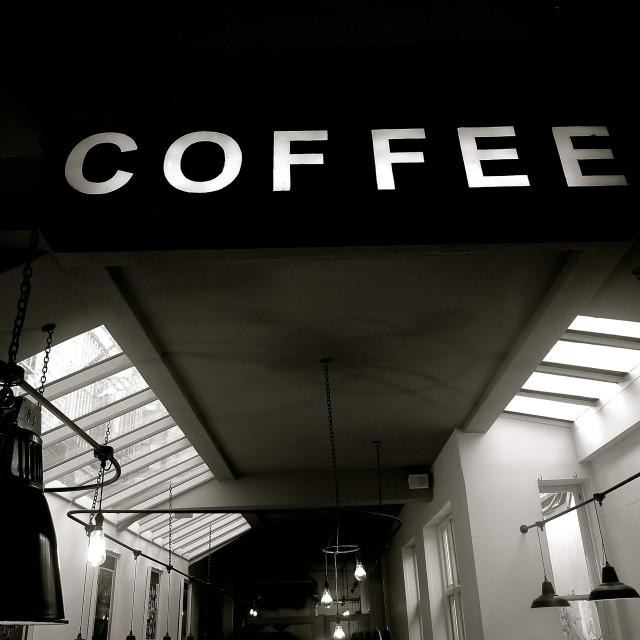"""Coffee, anyone?"" stock image"
