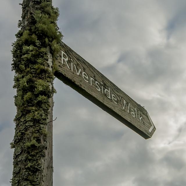 """Riverside Walk Sign"" stock image"