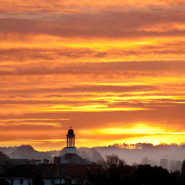 """""""Sunrise over Plymouth"""" stock image"""