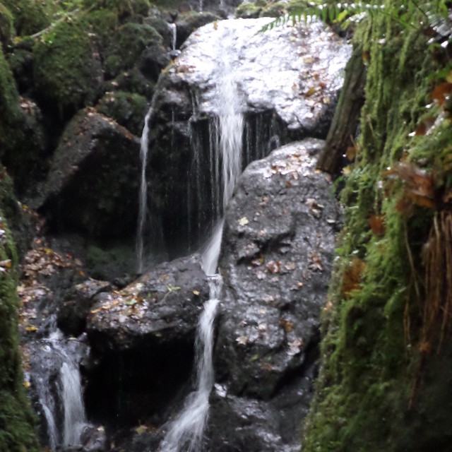 """Hidden Falls"" stock image"