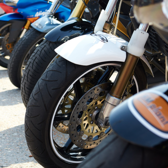 """Motorbikes"" stock image"