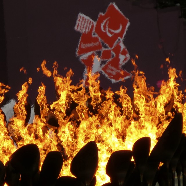 """Olympic flame"" stock image"