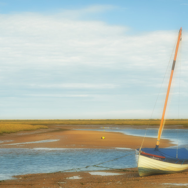 """Burnham Overy Harbour"" stock image"