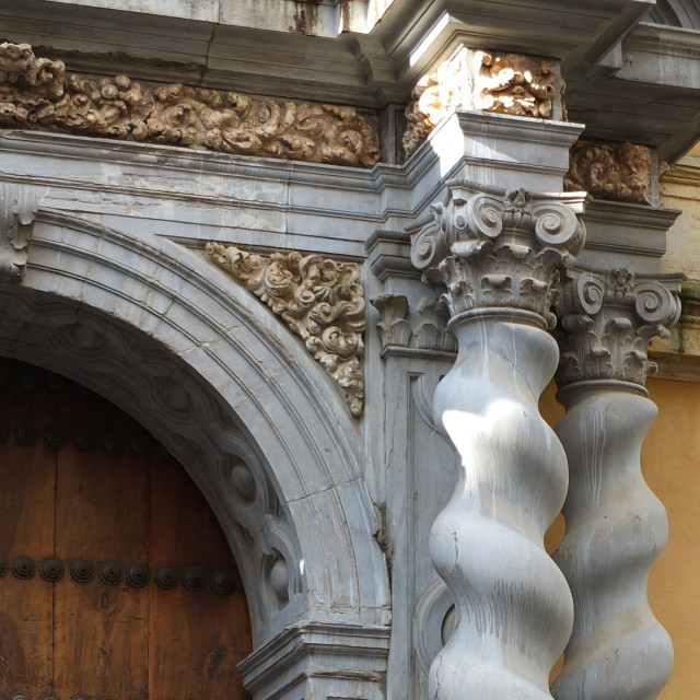 """""""Twisted Carved Pillars"""" stock image"""