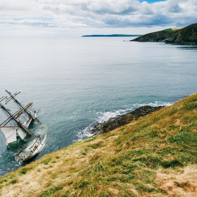 """Irish Shipwreck"" stock image"