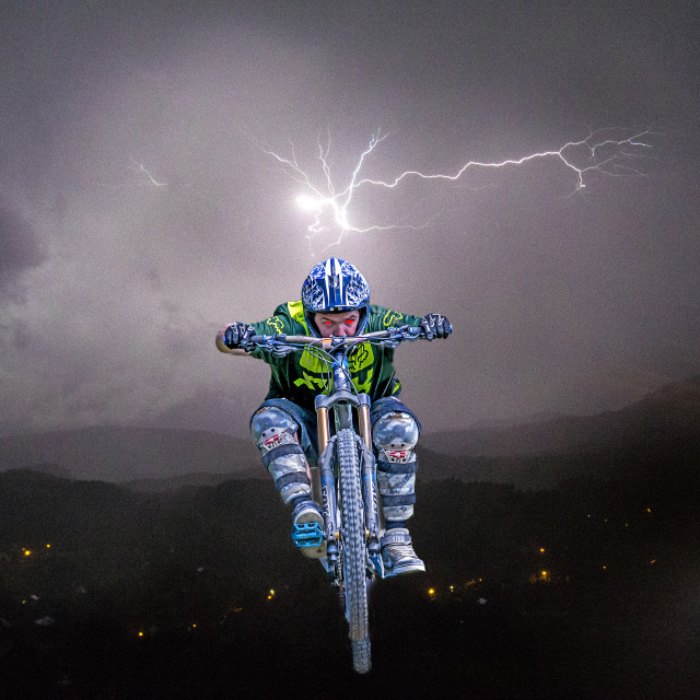 """Rider of the Storm"" stock image"