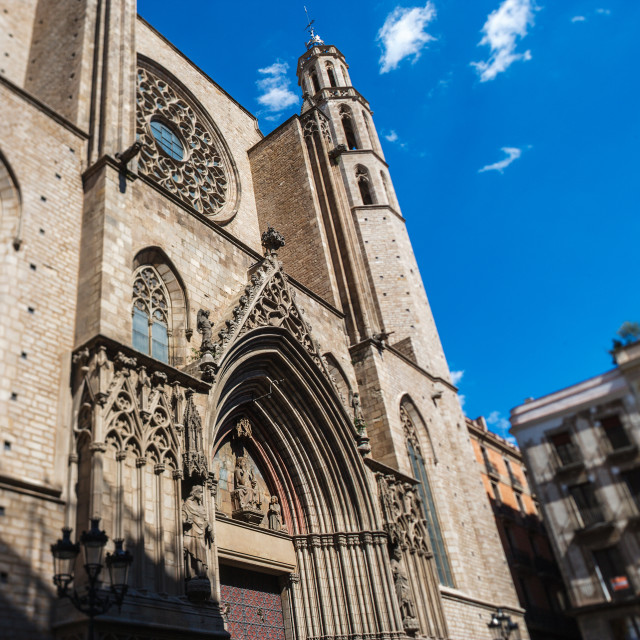 """Santa Maria del Mar church"" stock image"
