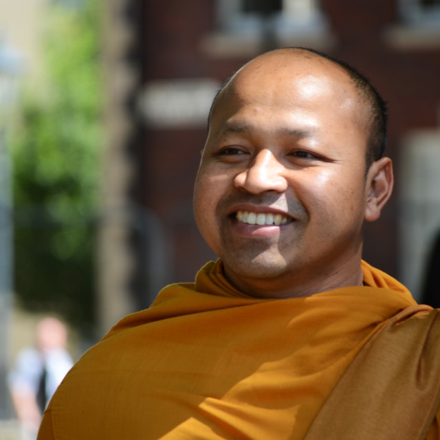 """Happy Monk"" stock image"