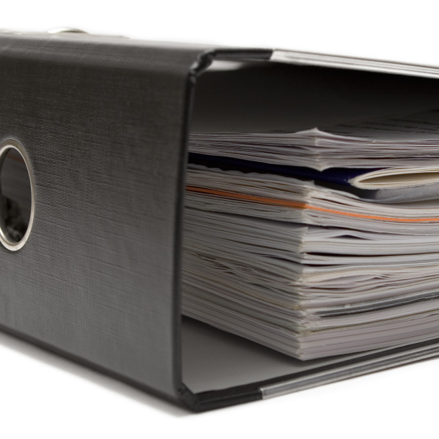 """Lying Black Ring Binder"" stock image"