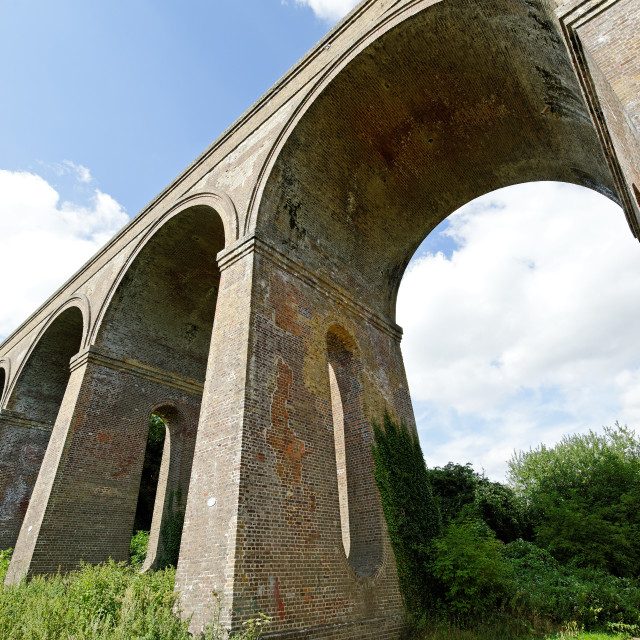 """Chappel Viaduct,Essex,UK"" stock image"