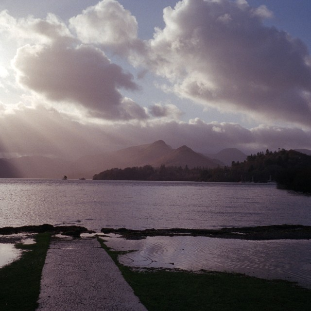 """""""Dewent Water and Cat Bells"""" stock image"""