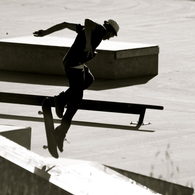 """Skateboarder"" stock image"