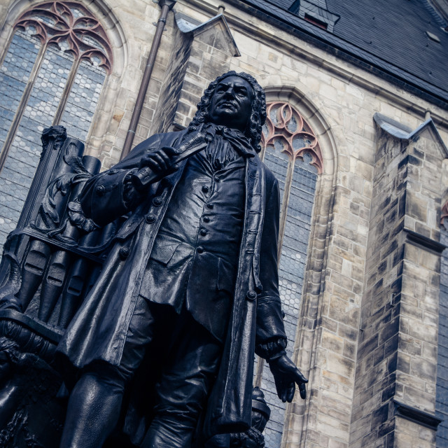 """""""J.S. Bach Statue"""" stock image"""