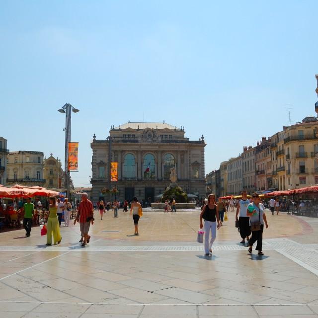 """""""Place de la Comédie"""" stock image"""