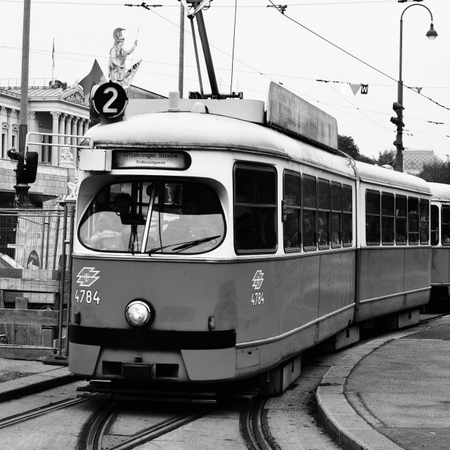 """Straßenbahn"" stock image"