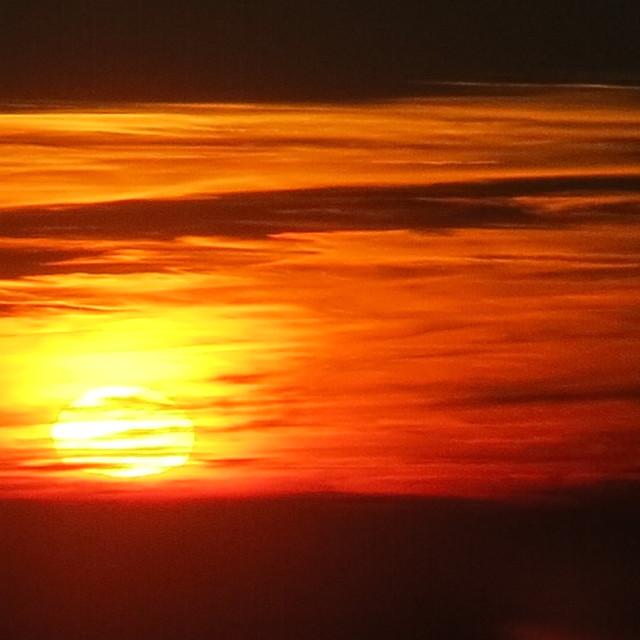 """Molten sunset"" stock image"