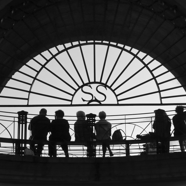 """San Sebastian silhouettes"" stock image"