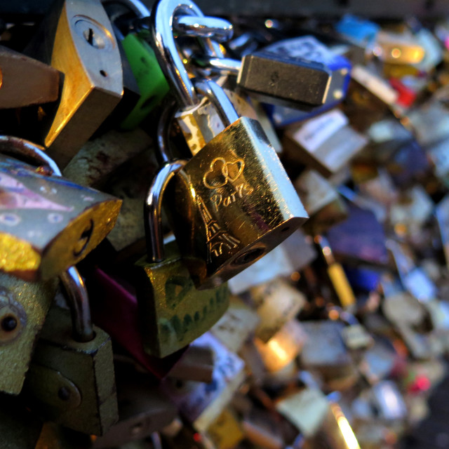 """Locks of love"" stock image"