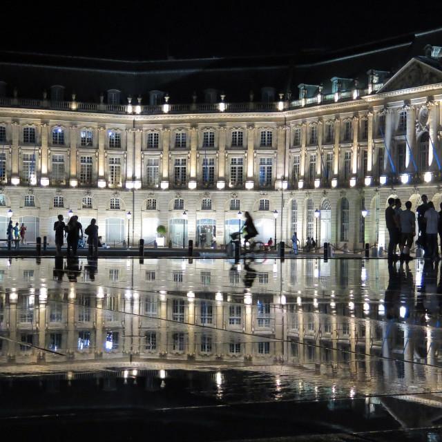 """Bordeaux reflection"" stock image"