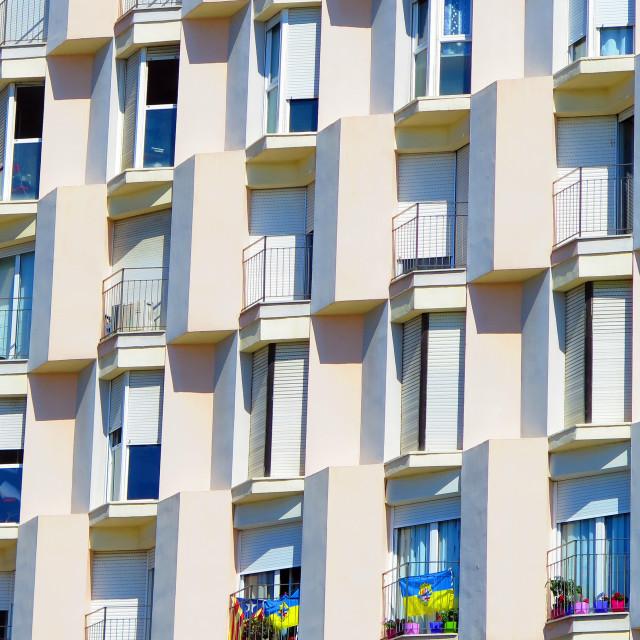 """Geometric windows"" stock image"