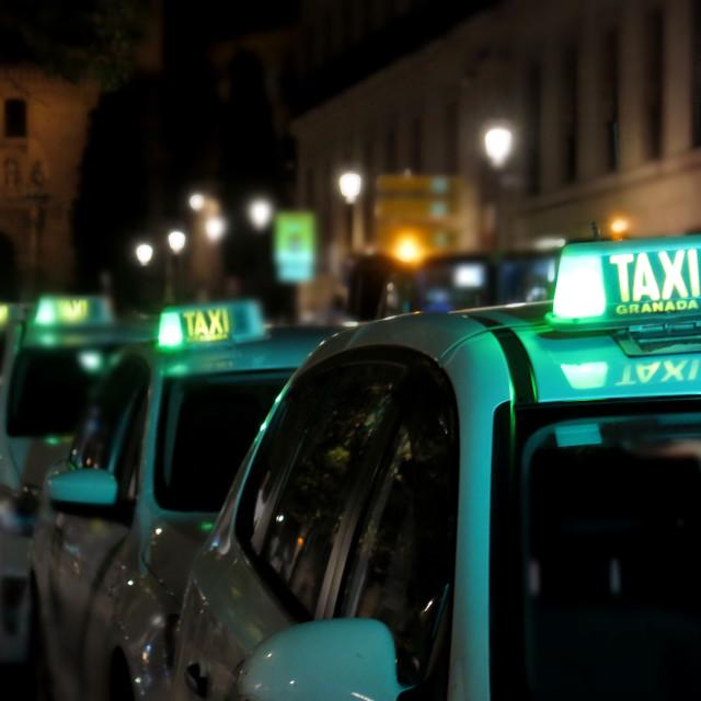"""Granada taxis"" stock image"