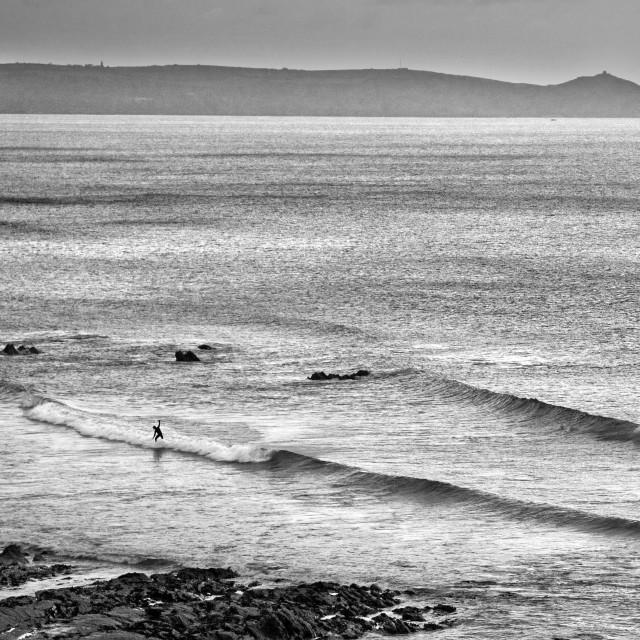 """Cornish Surfer"" stock image"